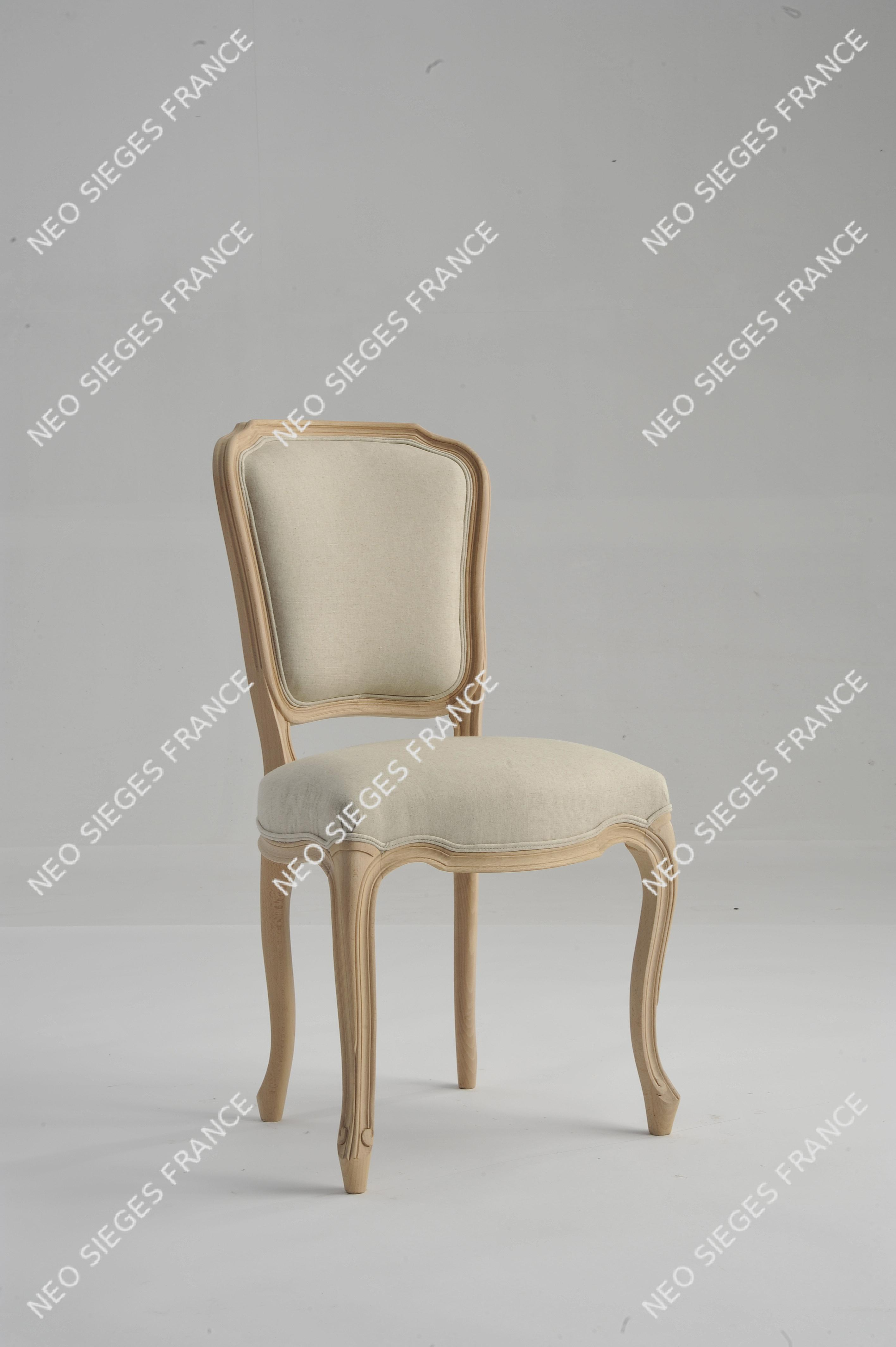 Chaise Louis XV Moulure Dos Et Assise Garnir