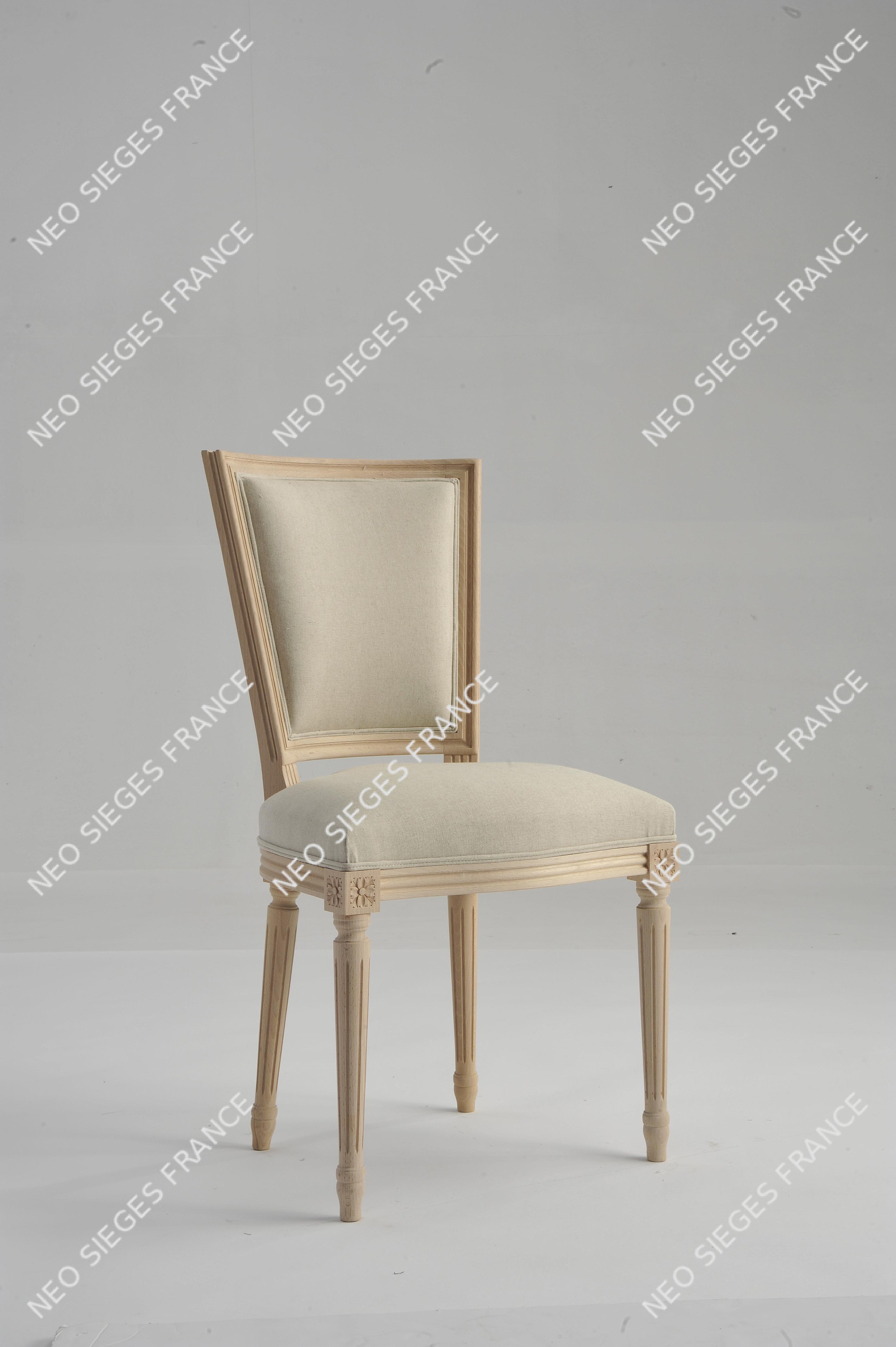 Chaise Marie Antoinette dos droit Louis XVI dos et assise à