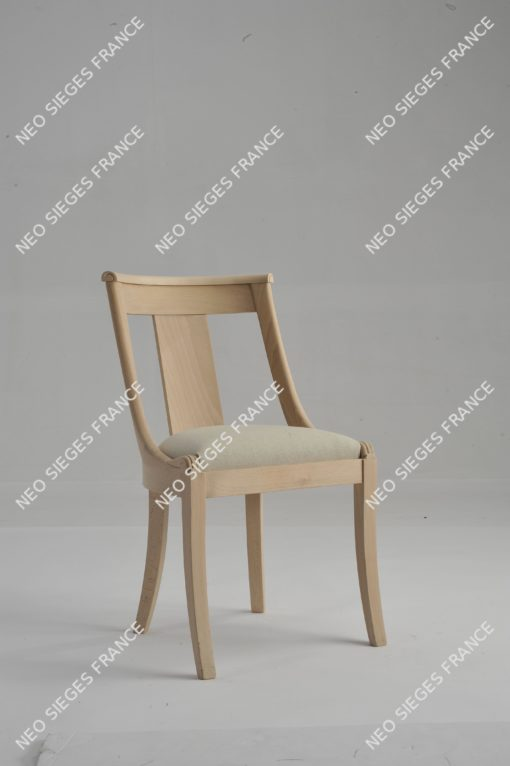 Chaise hotte droite palemette châssis garnir en lin réf. 1050