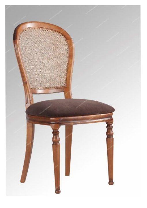 Chaise Julietta dos canné assise garnie